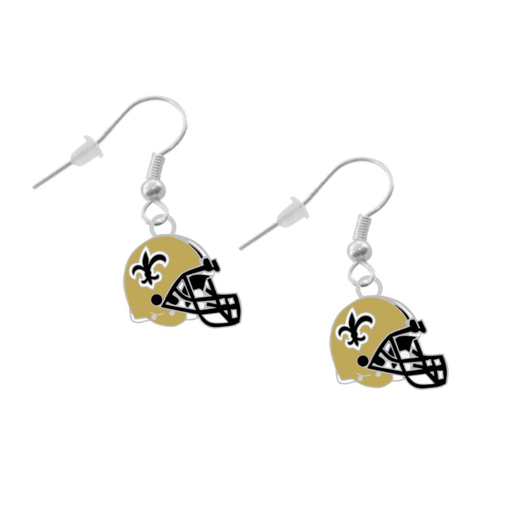 New Orleans Saints Helmet Earrings Pierced