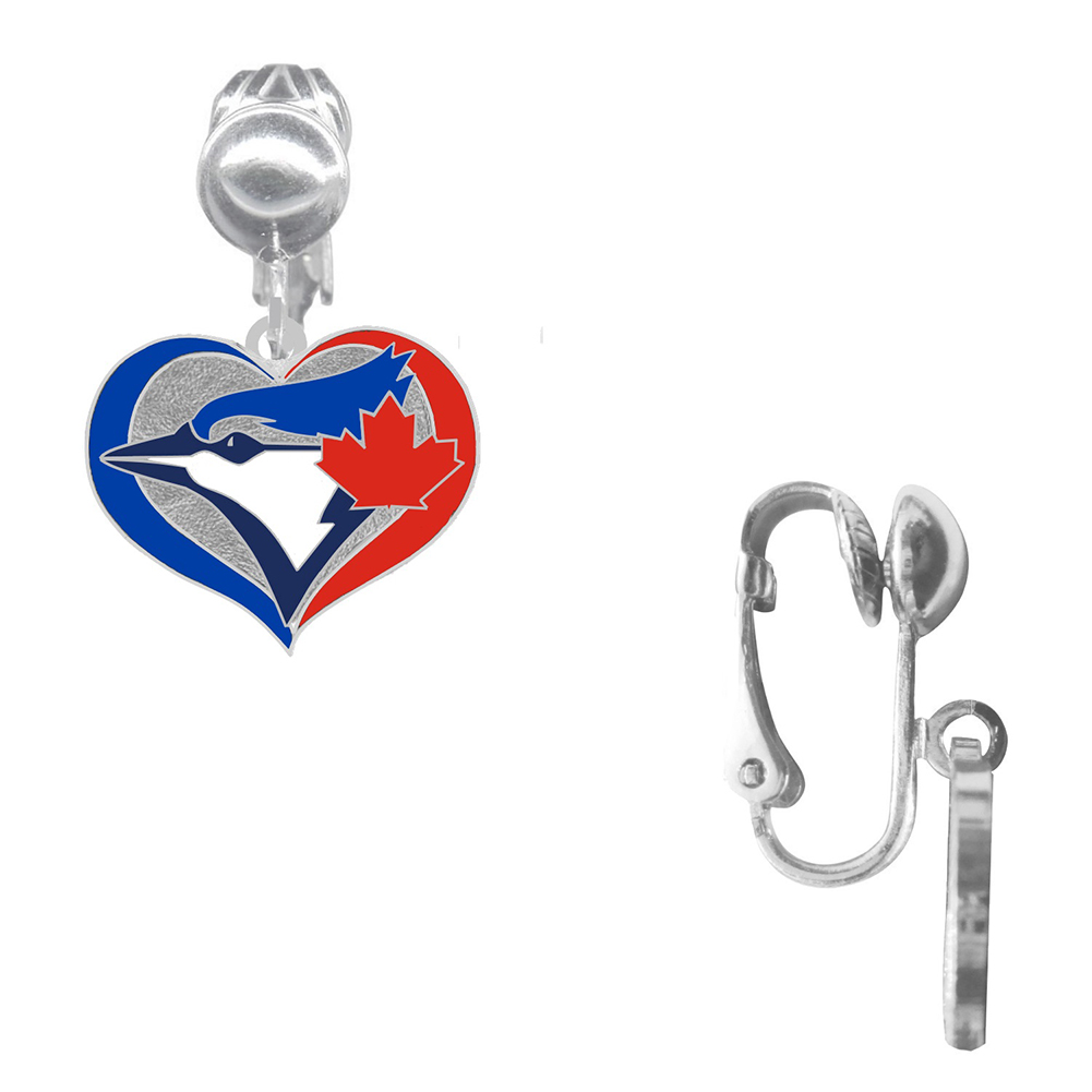 Final Touch Gifts Pittsburgh Pirates Crystal Heart Earrings Pierced